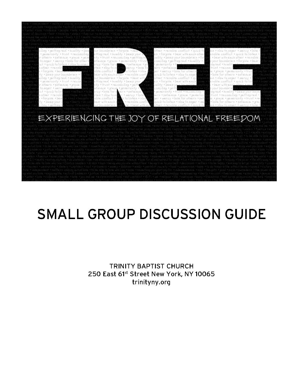 FREE-Small Group Discussion Guide cover