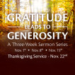 Grattitude Leads to Generosity: Time